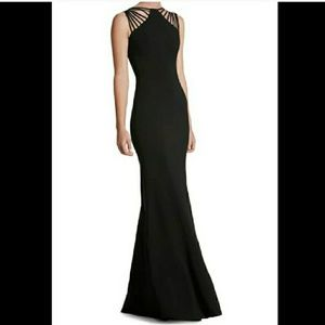 NEW Dress the Populatuon Harlow Crepe gown prom